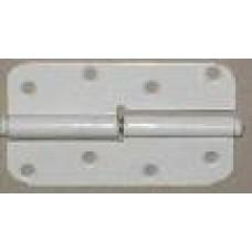 Петля накладная ПН1-110 левая белая  (Мет) 40*