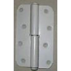 Петля накладная ПН1-130 левая белая (Мет) 30*