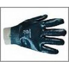 Перчатки нитриловые синие (манжета резинка)