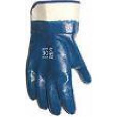 Перчатки нитриловые синие (манжета крага)