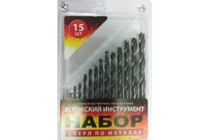 Набор сверл цл.хв 15 шт d-1,0-8,0 мм(блистер)