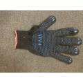 Перчатки 4-х нитка  х\б с ПВХ (точка) черные 10/250