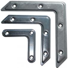 Угольник рамный 50х50 цинк (Мет)(фасов.50 шт)