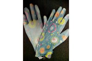 Перчатки садовые нейлоновые с нитрилом