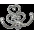 Крючок-вешалка №41 фигурн бел (2х рожк) 40*