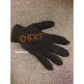Перчатки зимние вязаные полушерстяные  черные