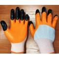 Перчатки нейлоновые 2-ой облив (черные пальцы)
